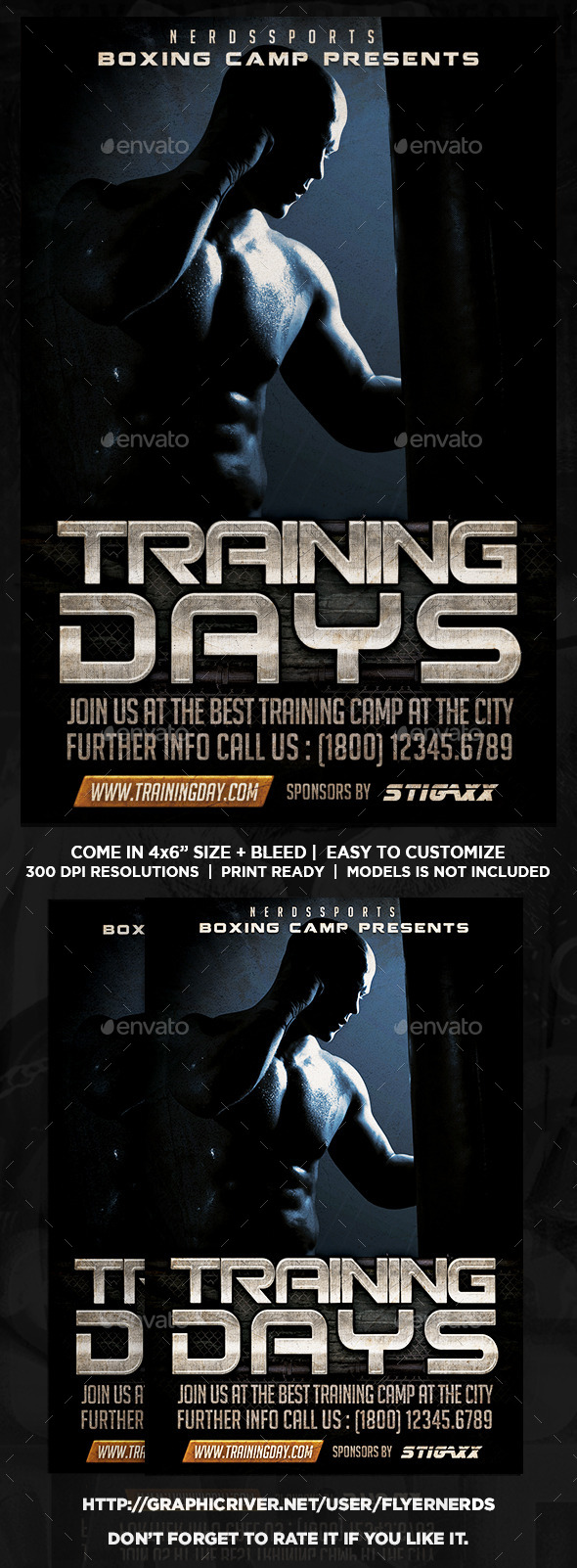 GraphicRiver Boxing Training Camp Sports Flyer 11129885