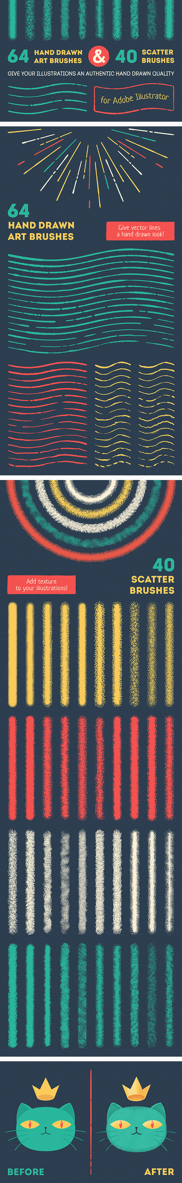 GraphicRiver Vector Brush Set 11130070