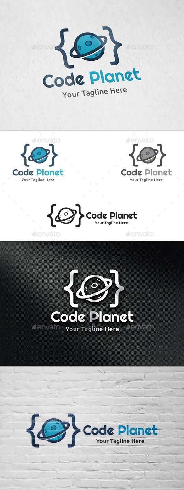 GraphicRiver Code Planet Logo Template 11130225