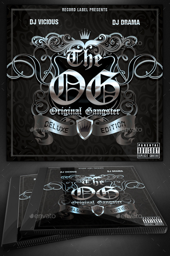 GraphicRiver Original Gangster Mixtape Cover 11130483
