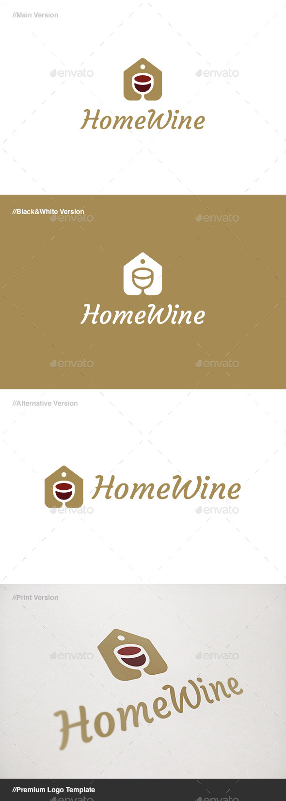 GraphicRiver Home Wine Logo 11130497