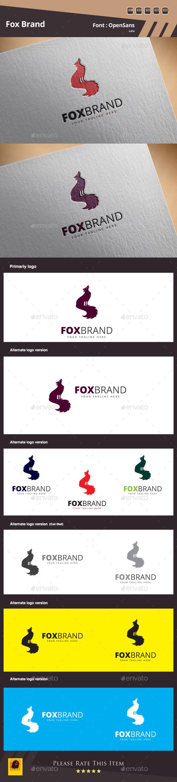 GraphicRiver Fox Brand Logo Template 11130615