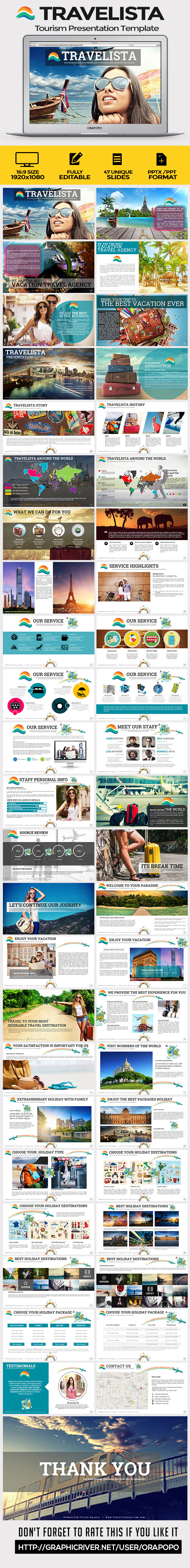 GraphicRiver Travelista Tourism Presentation Template 11130731