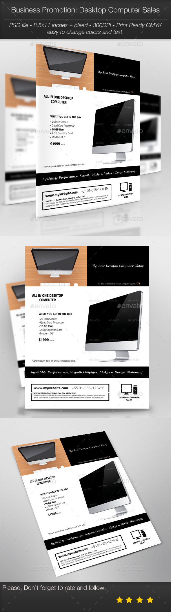 GraphicRiver Business Promotion Desktop Computer Sales 11131193