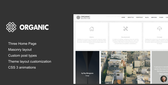 ThemeForest Organic Architecture & Creatives WordPress Theme 11068395