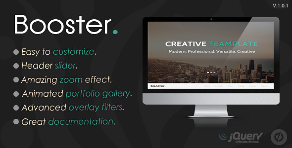 ThemeForest Booster Unbounce Multipurpose Template 11087691