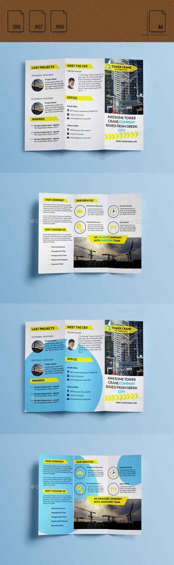 GraphicRiver Tower Crane Company Brochure 11131219