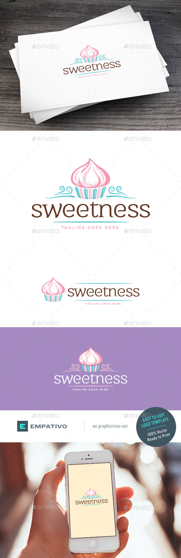 GraphicRiver Cupcakes Logo Template 11131368