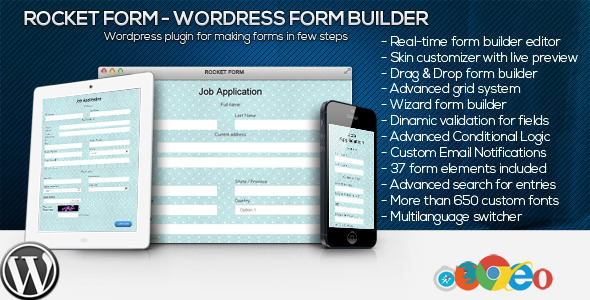 CodeCanyon Rocket Form WordPress Form Builder 11057544
