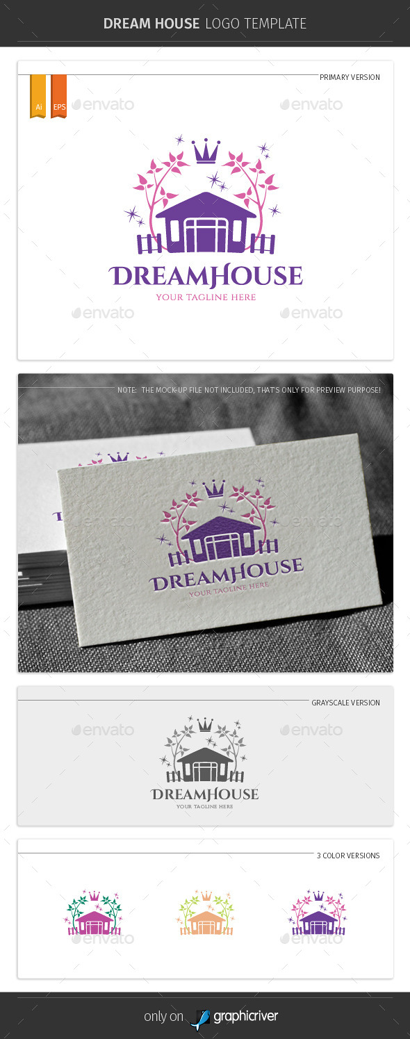GraphicRiver Dream House Logo Template 11132189