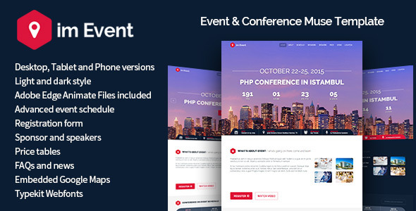 ImEvent - Event Conference Landing Muse Template