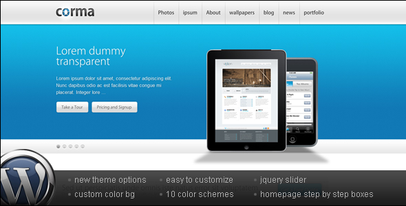 Corma - Wordpress Business & Portfolio Theme
