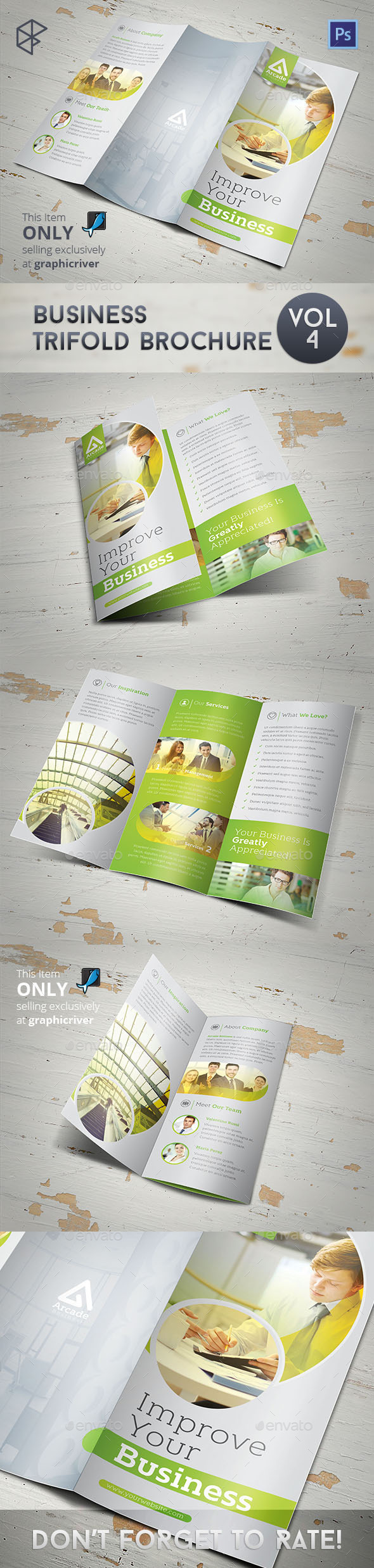 GraphicRiver Business Trifold Brochure Vol 4 11134558