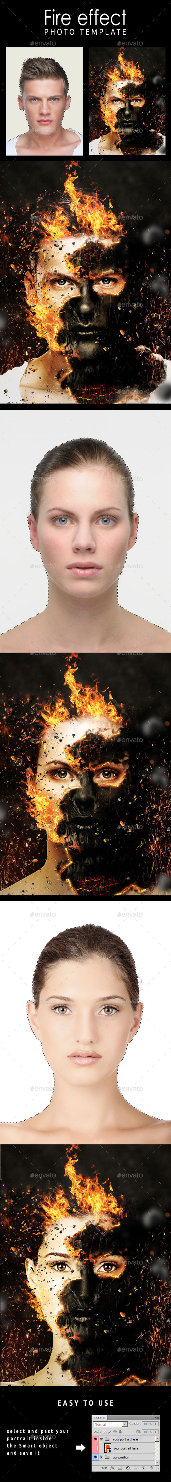 GraphicRiver Fire Effect Photo Template 11108155