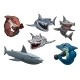 Cartoon Sharks - GraphicRiver Item for Sale