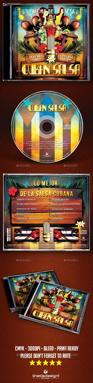 Cuban Salsa CD Artwork Template