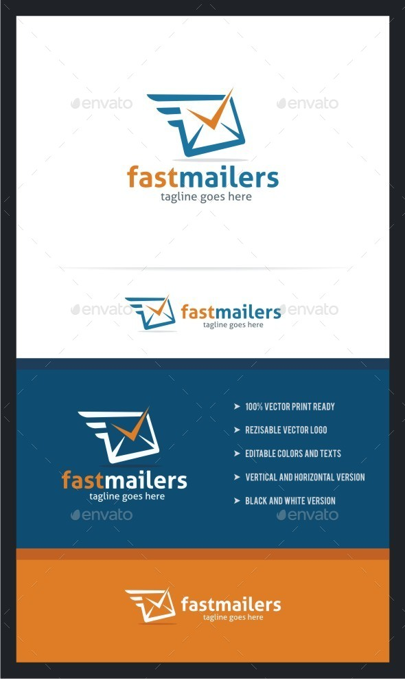 GraphicRiver Fast Mailers Logo Template 11136430