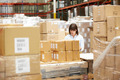 Worker In Warehouse Preparing Goods For Dispatch - PhotoDune Item for Sale