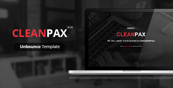 CleanPax - Unbounce Template