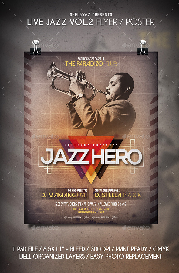 GraphicRiver Live Jazz Flyer Poster Vol.2 11136881