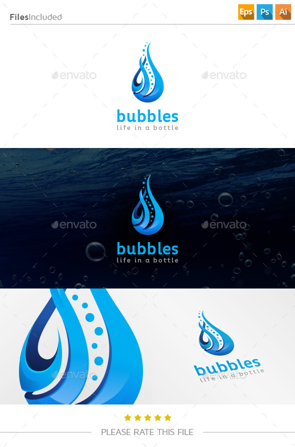 GraphicRiver Water Technology Logo 11136936