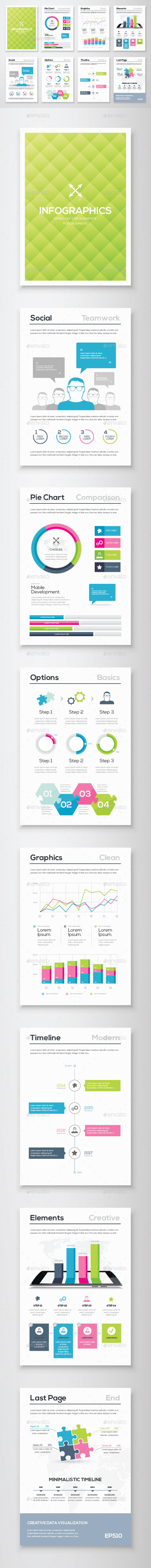 GraphicRiver Infographic Brochure Vector Elements Kit 12 11136997