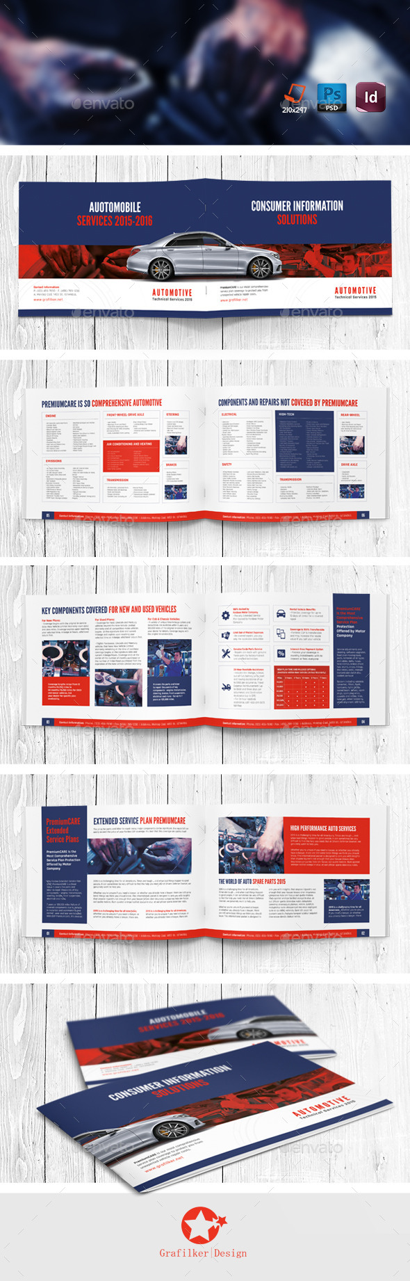 GraphicRiver Automobile Service Brochure Templates 11137199