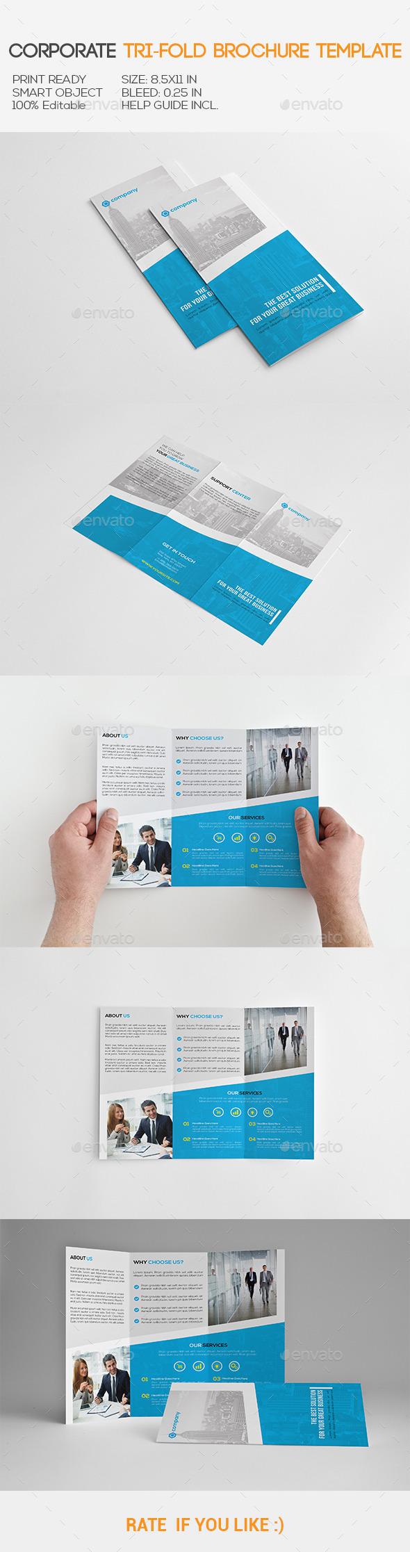 GraphicRiver Corporate Tri-Fold Brochure 11137363