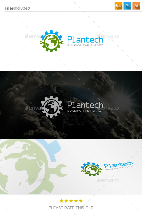 GraphicRiver Technology Planet Logo 11139064