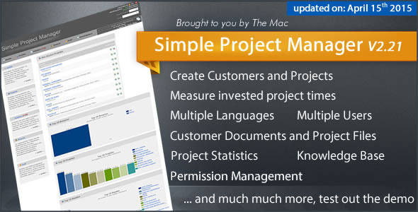 SPM - Simple Project Manager - CodeCanyon Item for Sale