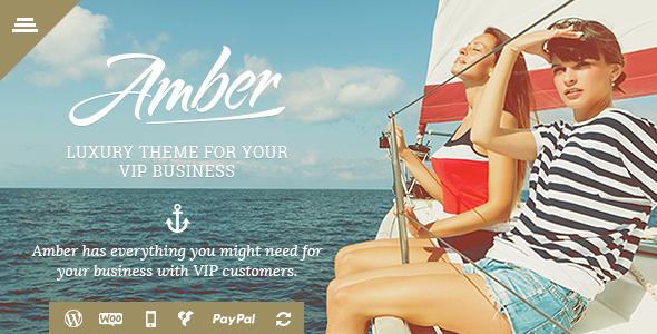 ThemeForest Amber Luxury Business WordPress Theme 11078987