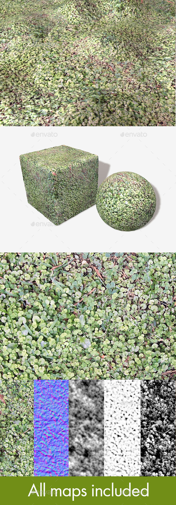 3DOcean Clover Ground Seamless Texture 11139496