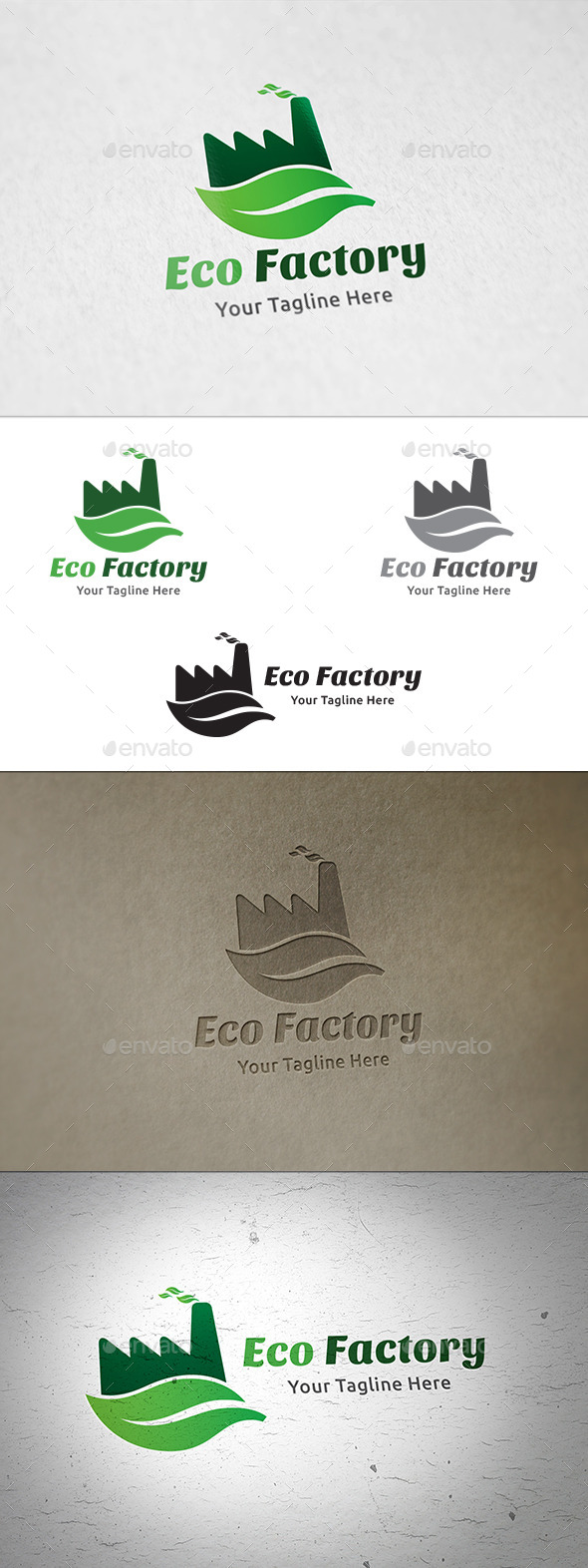 GraphicRiver Eco Factory Logo Template 11139864