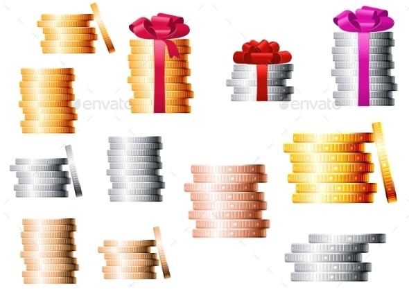 GraphicRiver Coin Stacks 11139876