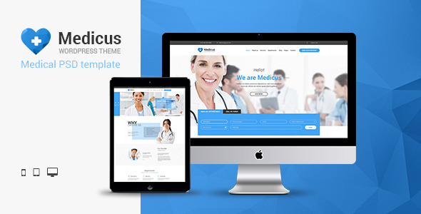 ThemeForest Medicus Multipurpose Medical PSD Template 11139889