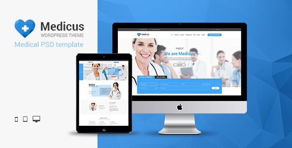 ThemeForest Medicus Multipurpose Medical PSD Template 11139889