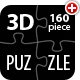 3D Customizable Puzzle Set (16x10)