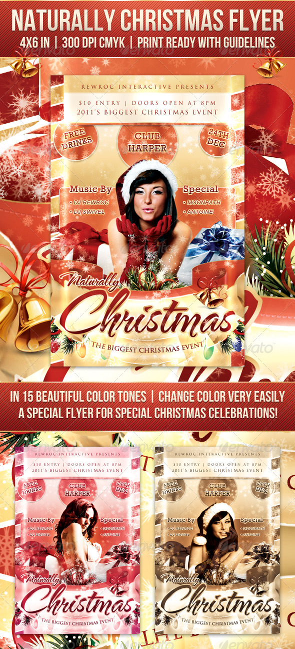 GraphicRiver Naturally Christmas Flyer 1116442