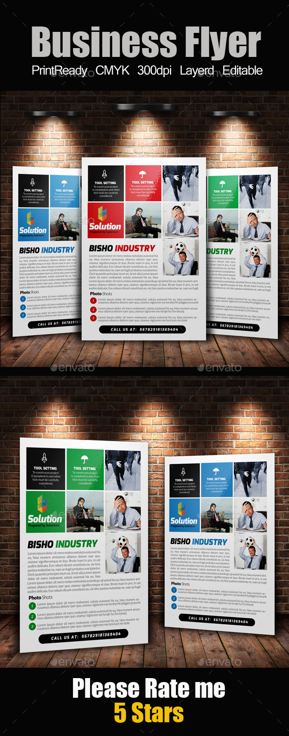 GraphicRiver A4 Business Flyer Template 11140069
