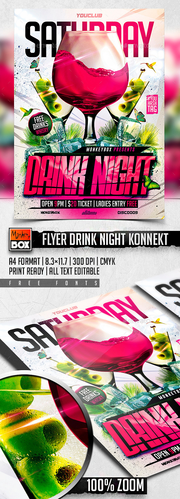 GraphicRiver Flyer Drink Night Konnekt 11140139
