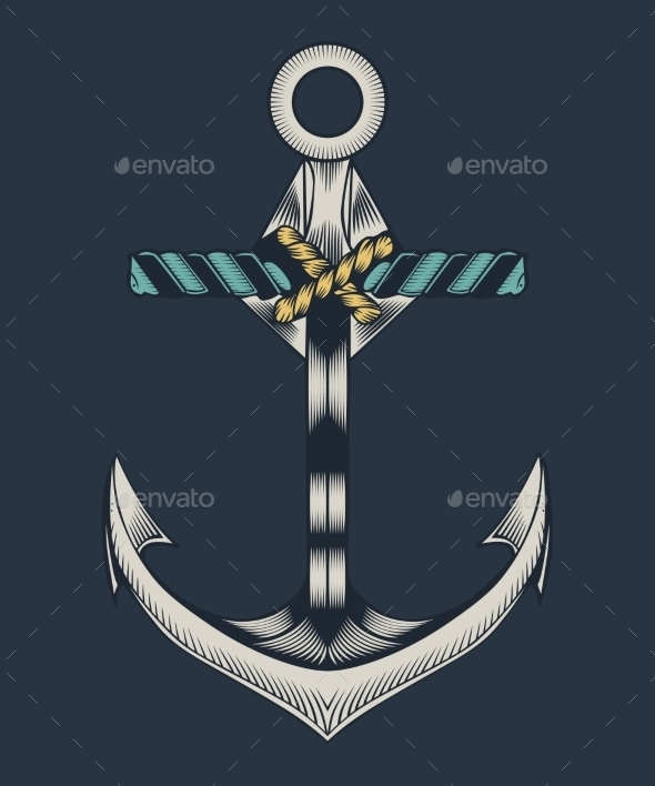 GraphicRiver Metal Ship Anchor 11140217