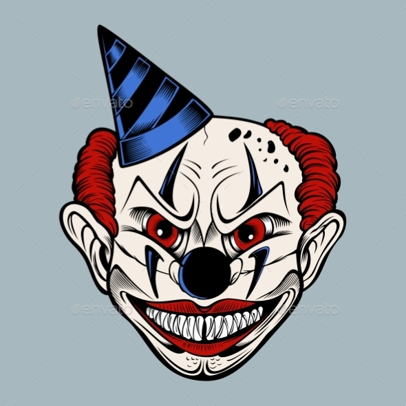 GraphicRiver Scary Clown 11140273