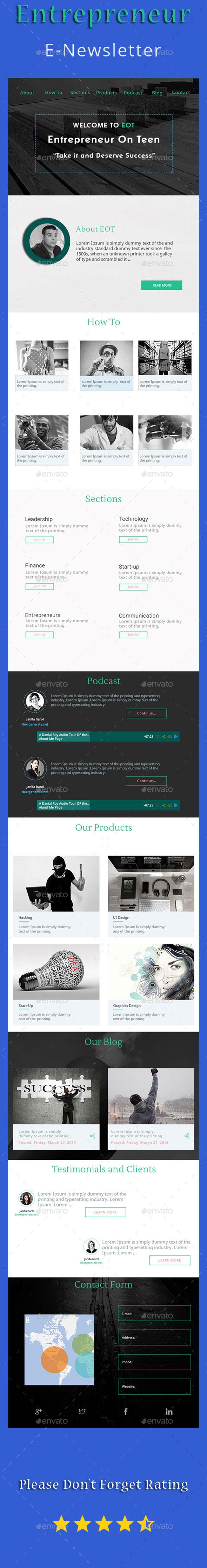 GraphicRiver Entrepreneur Email Newsletter 11071041