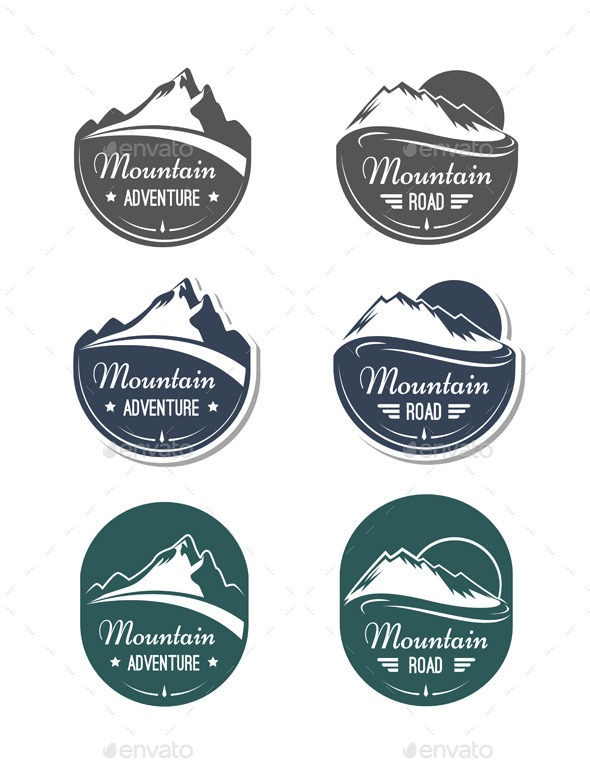 GraphicRiver Mountain Design Elements Set 11140974