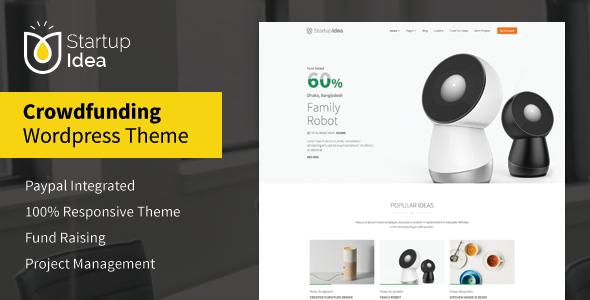 ThemeForest Startup Idea Crowdfunding WordPress Theme 11142088