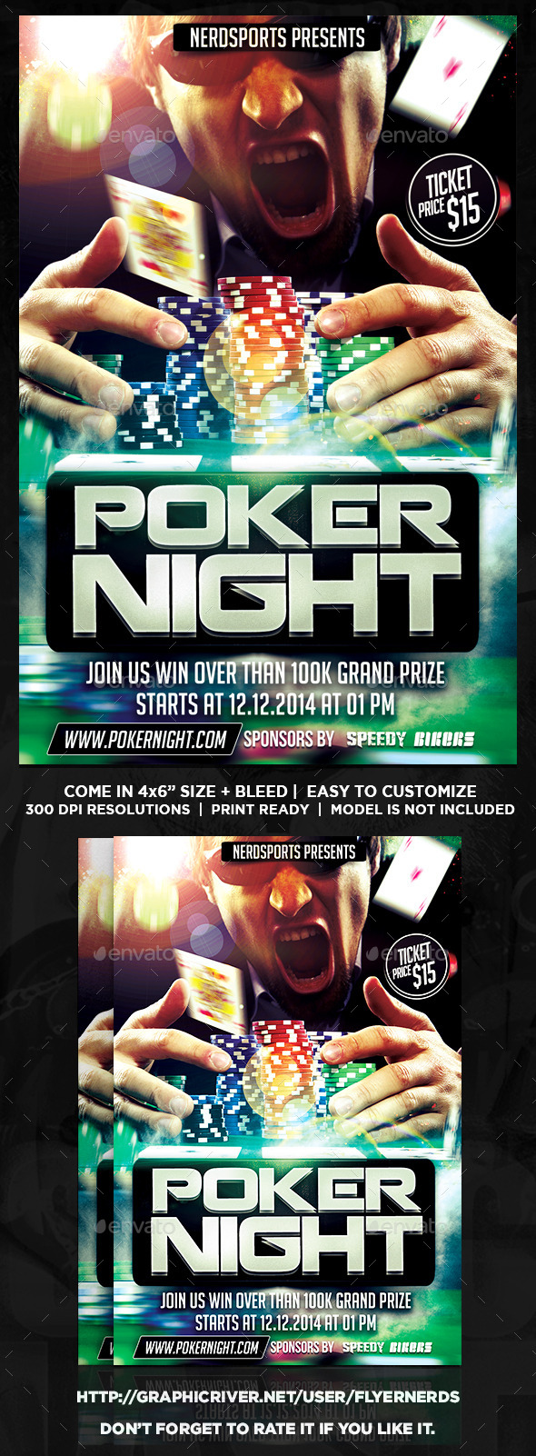 GraphicRiver Poker Tournament Sports Flyer 11142124