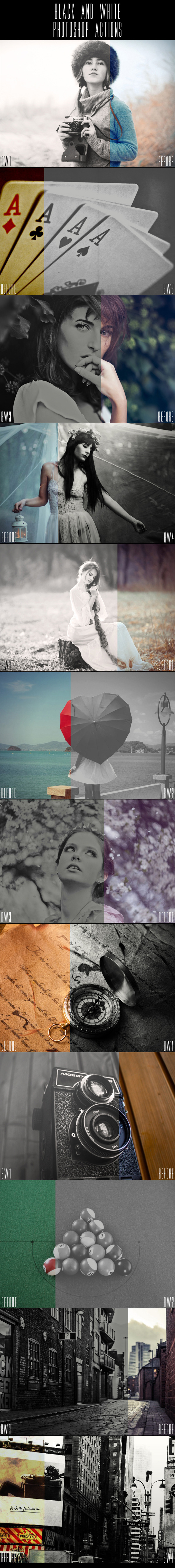 GraphicRiver Black and White Photoshop Actions 11142816