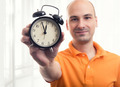 man with alarm clock - PhotoDune Item for Sale
