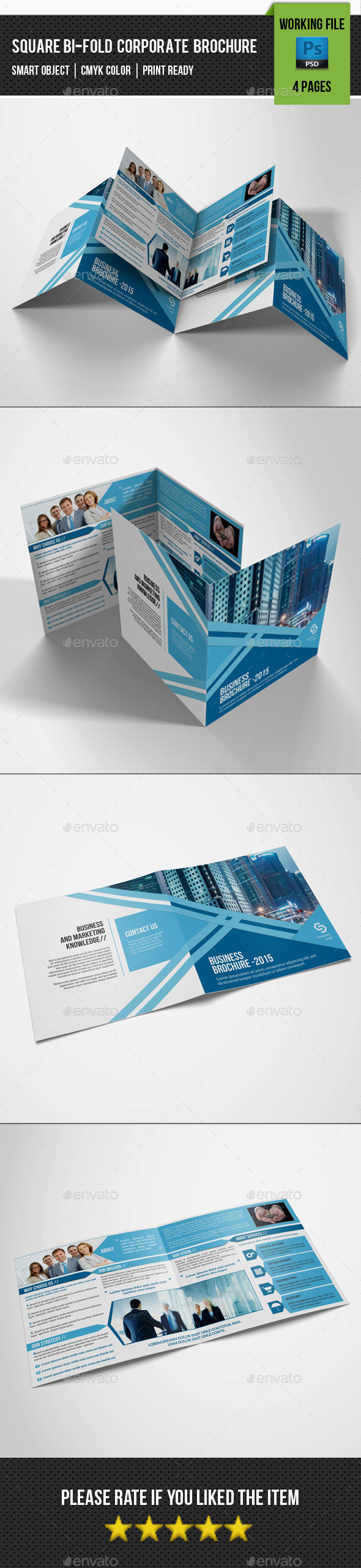 GraphicRiver Square Bifold Brochure-V18 11143366
