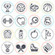 Sports and Fitness Line Icons - GraphicRiver Item for Sale
